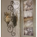 Uttermost Alternative Wall Decor Davinia Candle Sconce - Item Number: 04173