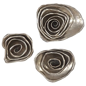 Amalie Metal Spiral Wall Decor, S/3