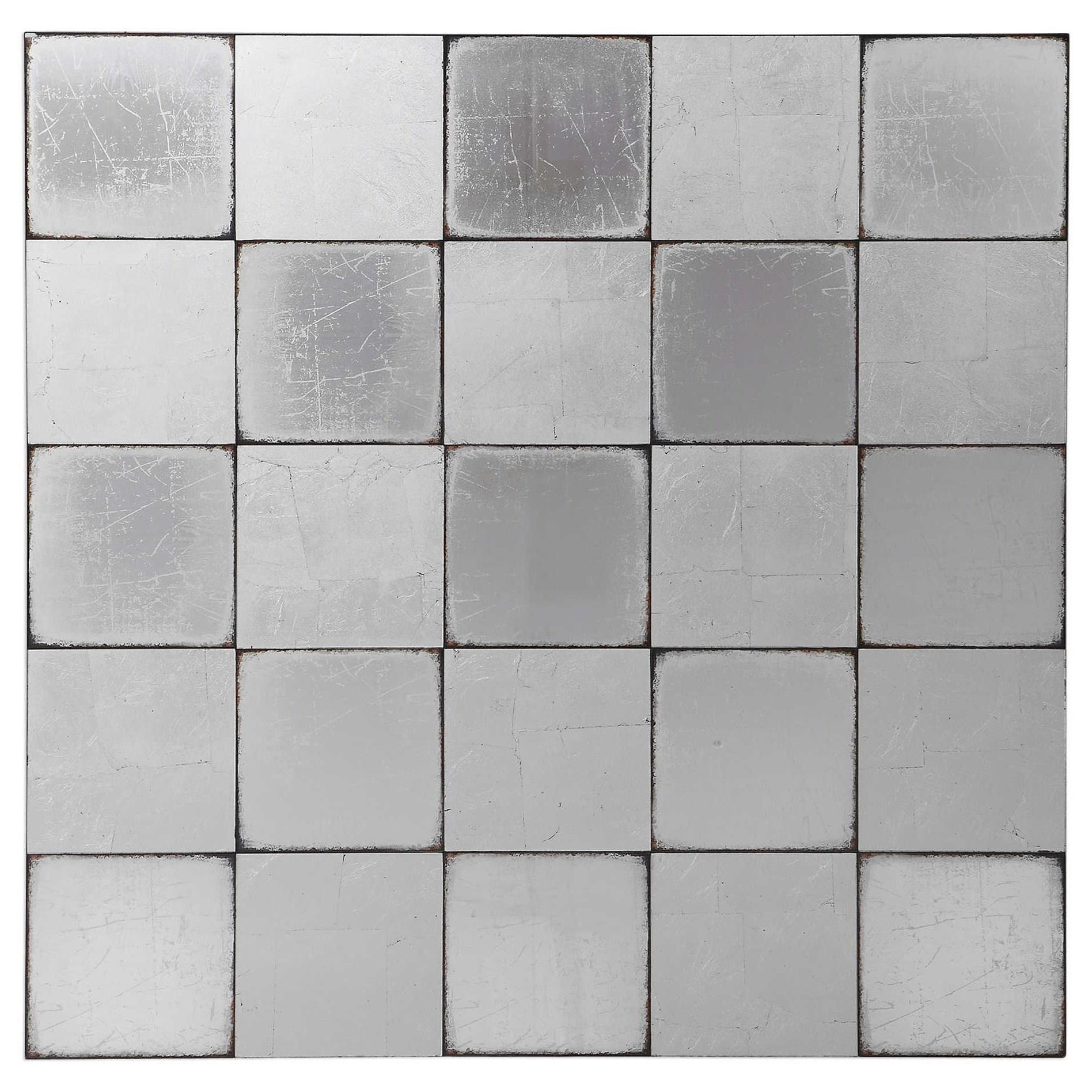 Brigid Mirrored Checkerboard Wall Decor