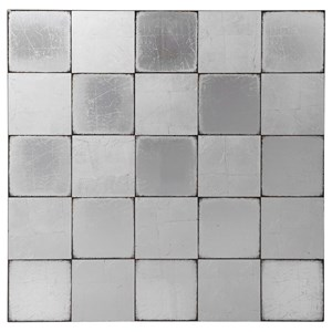 Brigid Mirrored Checkerboard Wall Decor