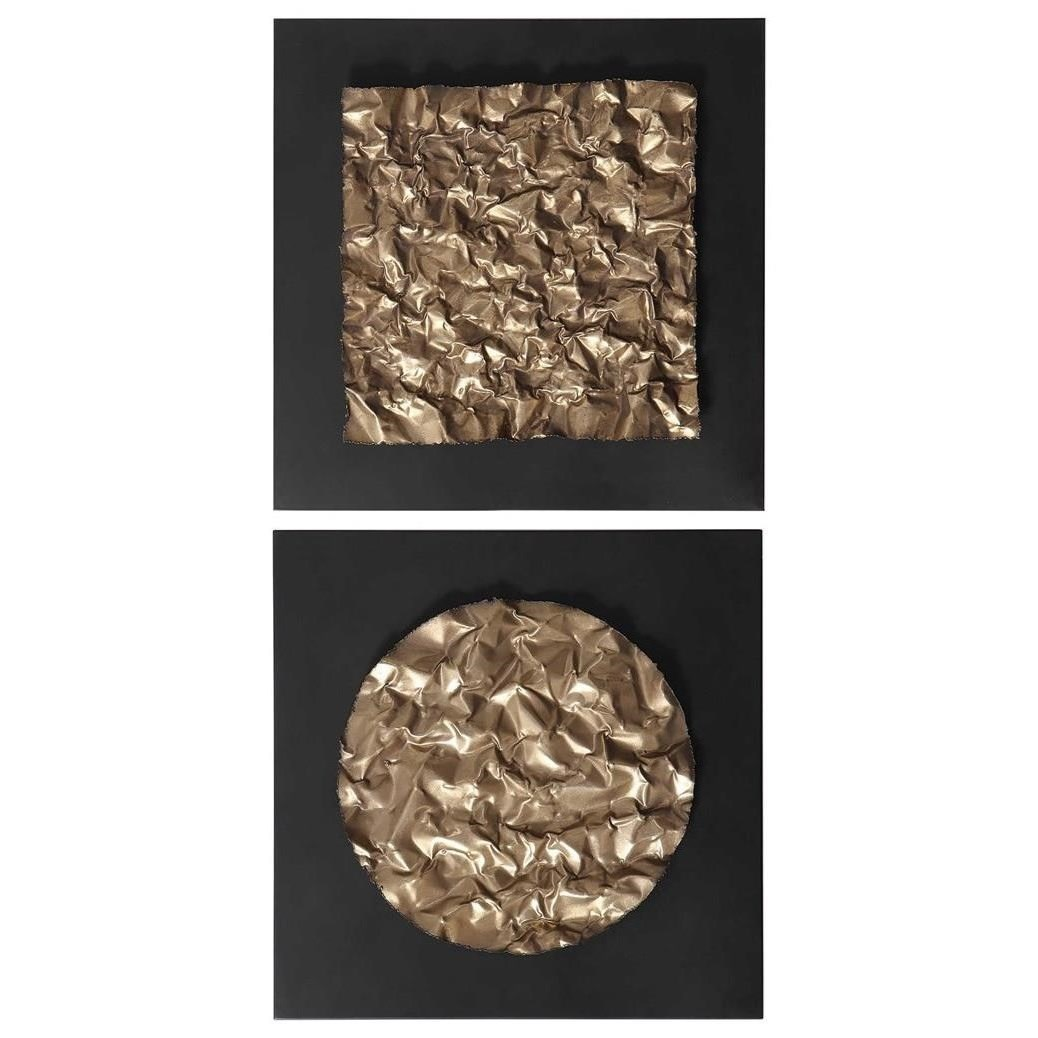 Boaz Gold Wall Decor, Set/2