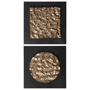 Boaz Gold Wall Decor, Set/2