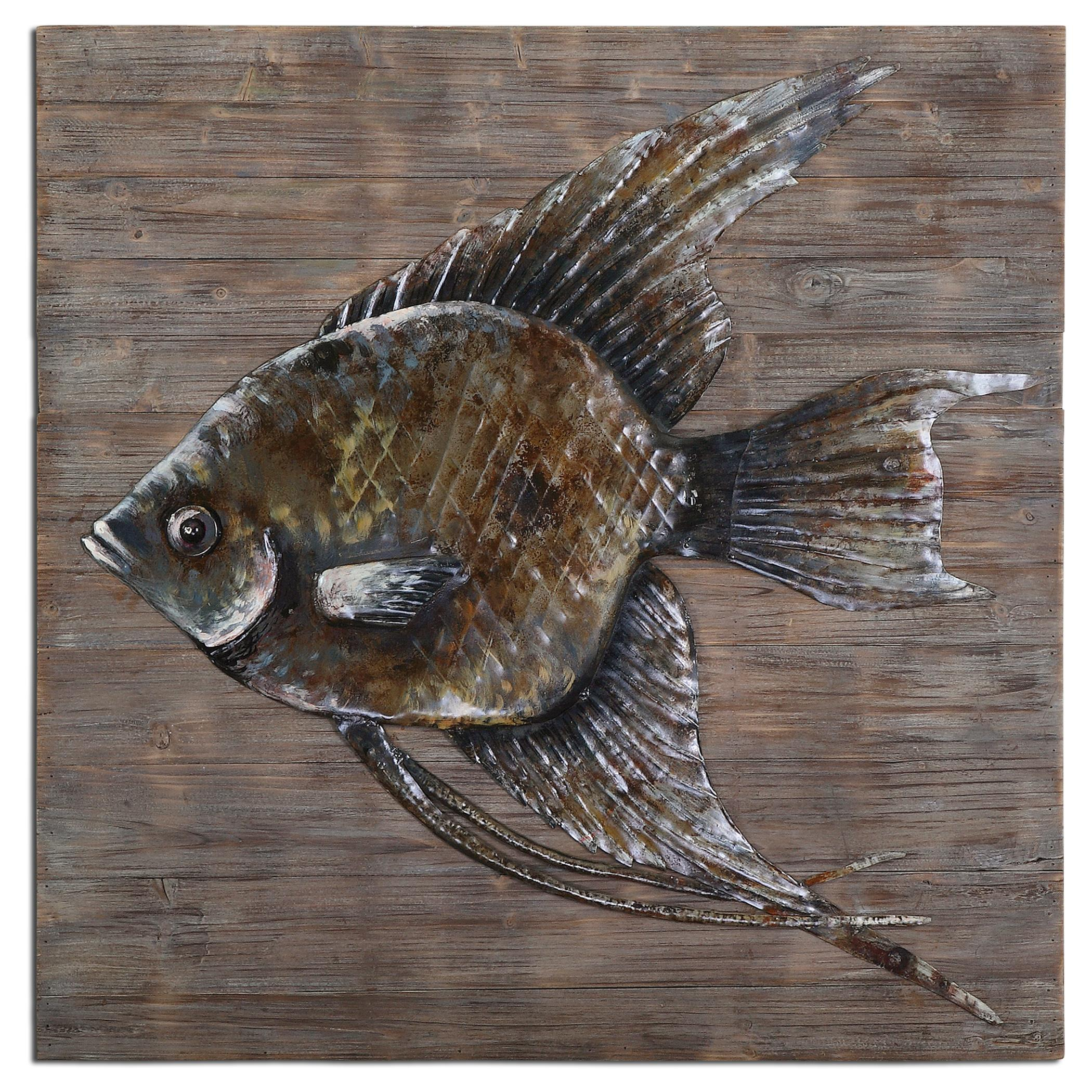 Uttermost Alternative Wall Decor Iron Fish Wall Art - Item Number: 04273