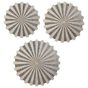 Mirrored Circular Wall Decor, S/3
