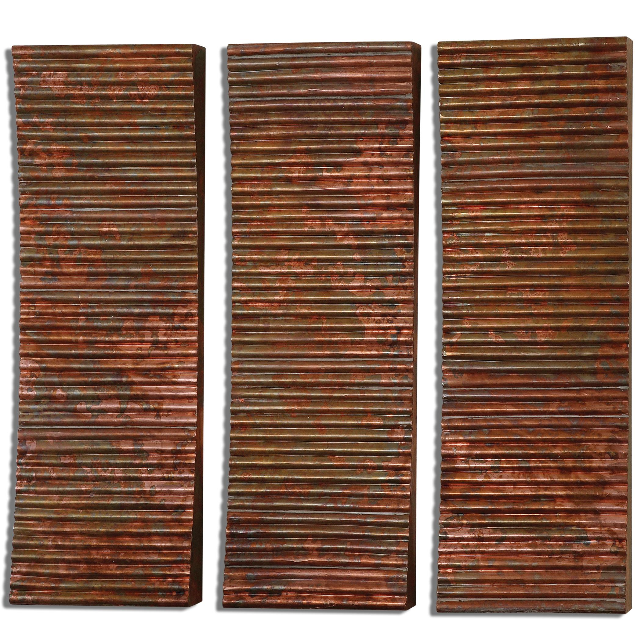 Uttermost Alternative Wall Decor Adara Copper Wall Art, Set of  3 - Item Number: 07064