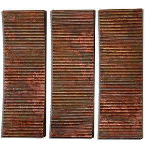 Uttermost Alternative Wall Decor Adara Copper Wall Art, Set of  3