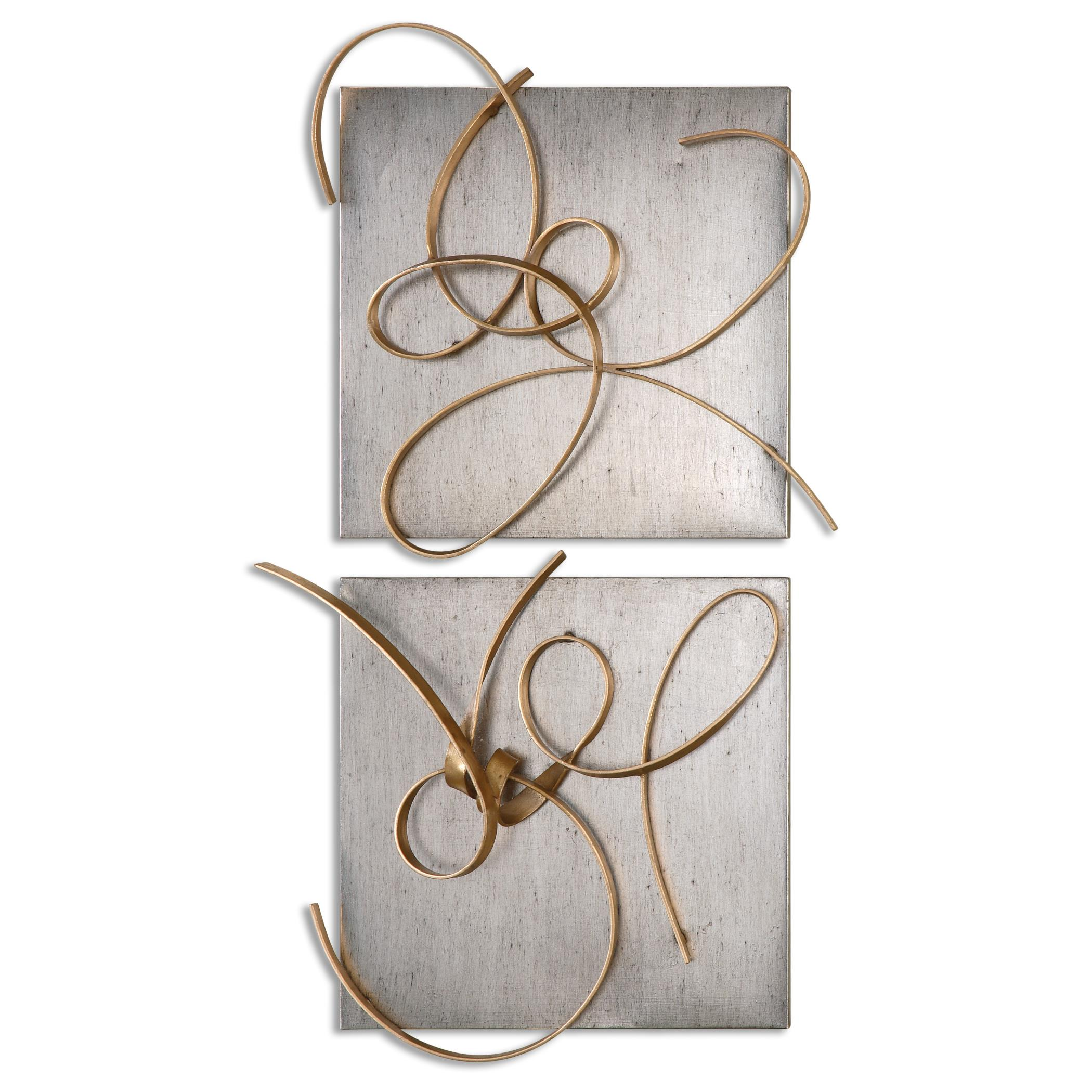 Uttermost Alternative Wall Decor Harmony Metal Wall Art, S/2 - Item Number: 07071