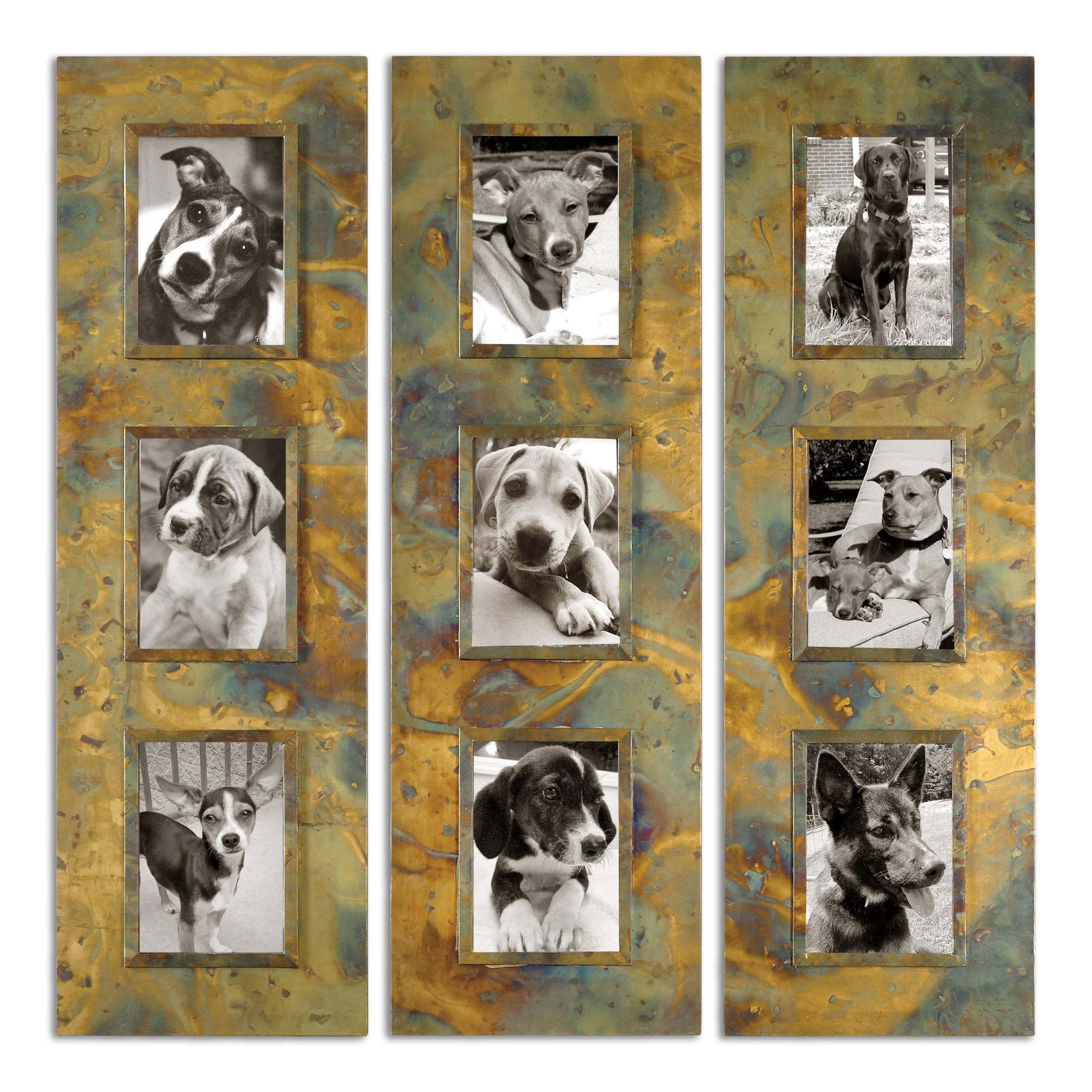 Uttermost Alternative Wall Decor Ambrosia Photo Collage, S/3 - Item Number: 07072