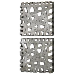 Uttermost Alternative Wall Decor Alita Squares Wall Art, Set of  2