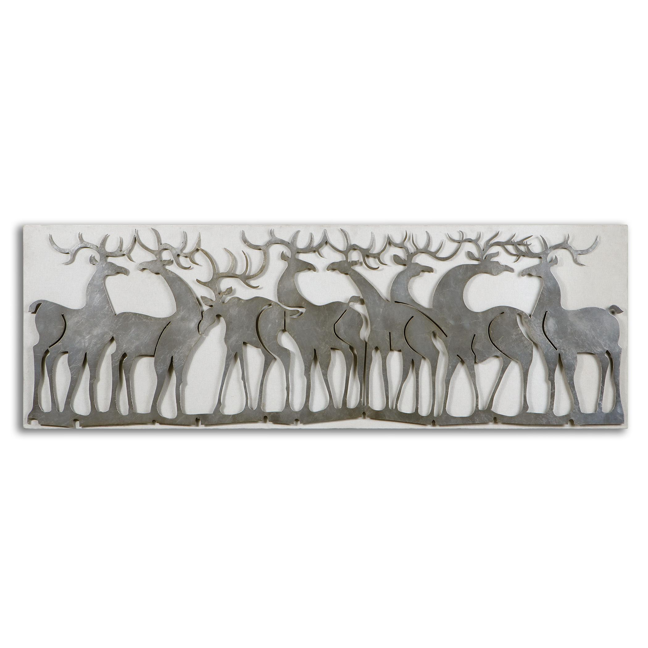 Uttermost Alternative Wall Decor Herd Of Deer Wall Art - Item Number: 07682