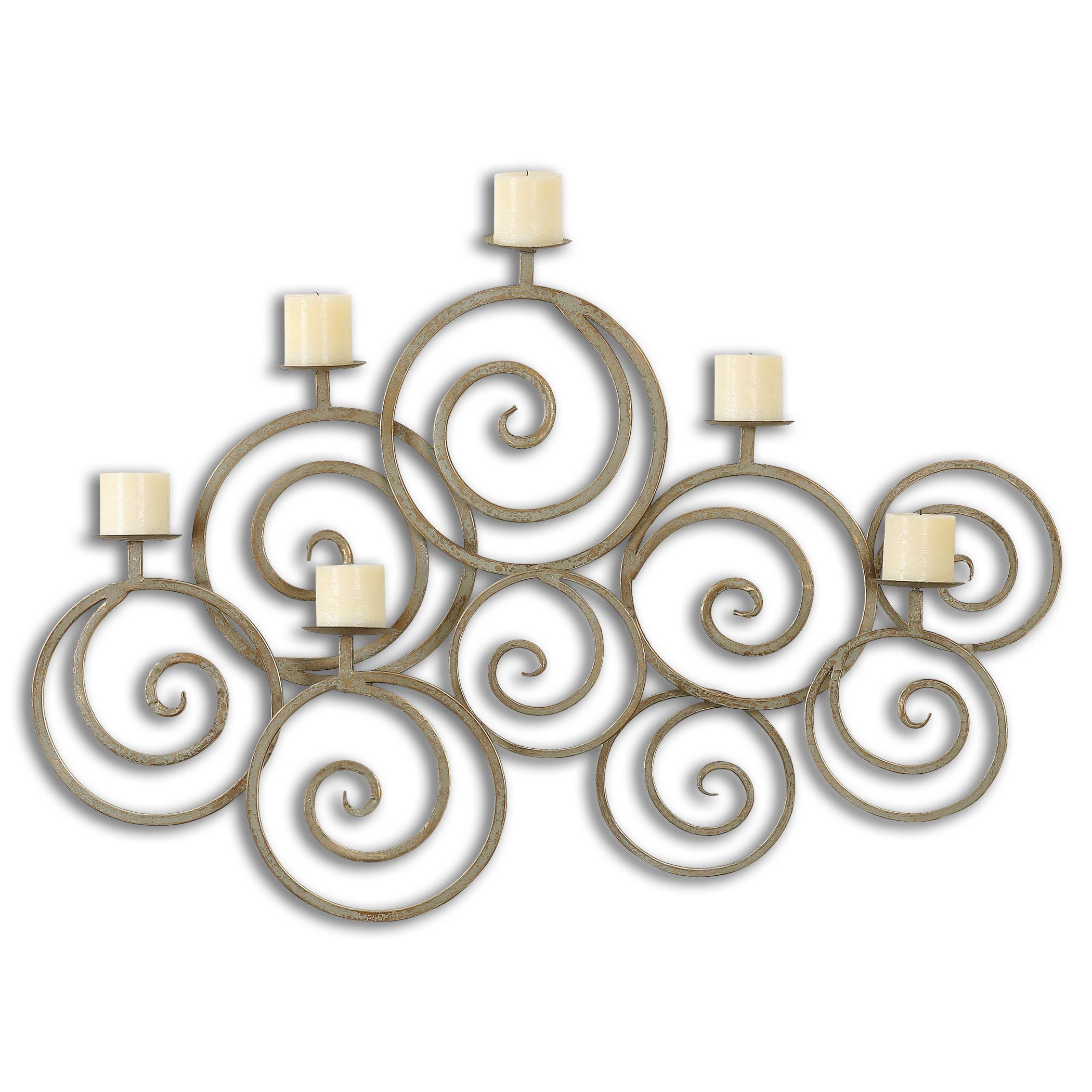 Uttermost Alternative Wall Decor Fabricia Metal Candle Sconce - Item Number: 07686