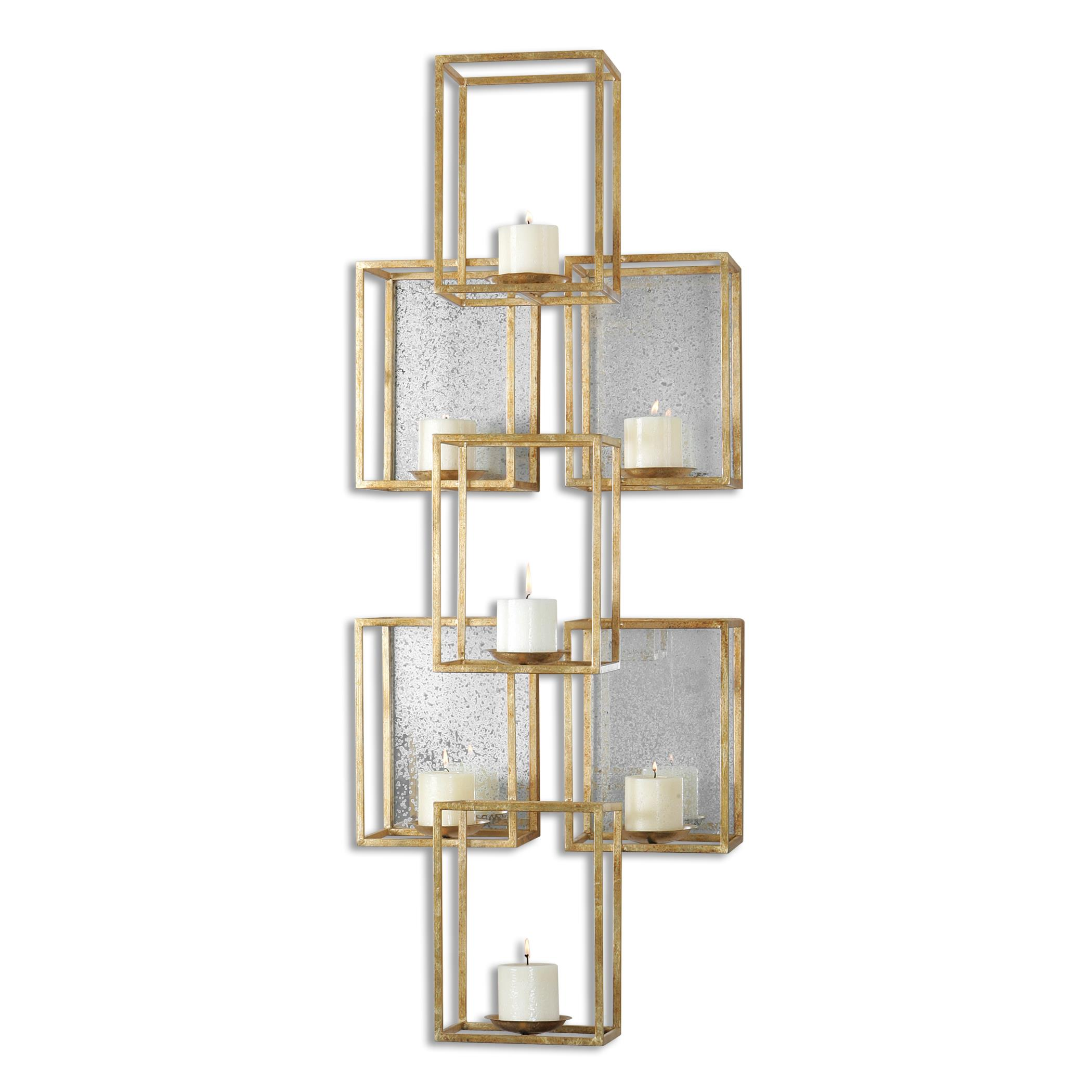 Uttermost Alternative Wall Decor Ronana Mirrored Wall Sconce - Item Number: 07693