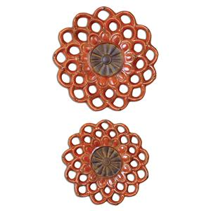 Uttermost Alternative Wall Decor Carilla Ceramic Medallions, Set of  2