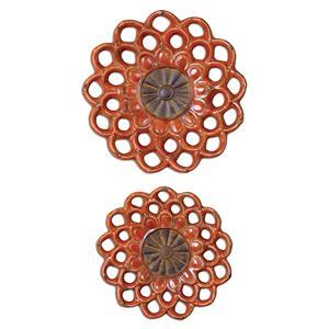 Uttermost Alternative Wall Decor Carilla Ceramic Medallions, Set of  2