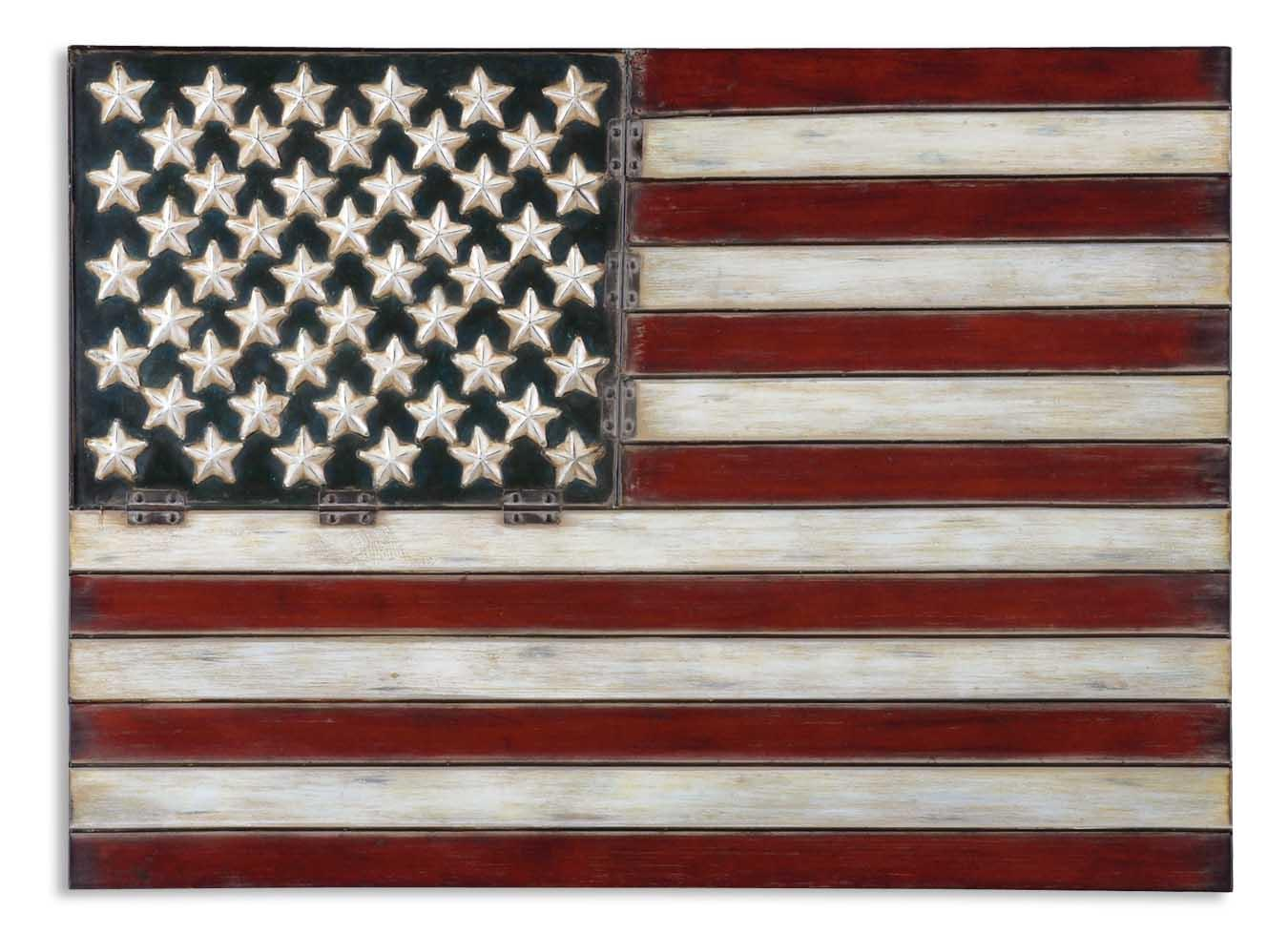 Uttermost Alternative Wall Decor American Flag - Item Number: 13480