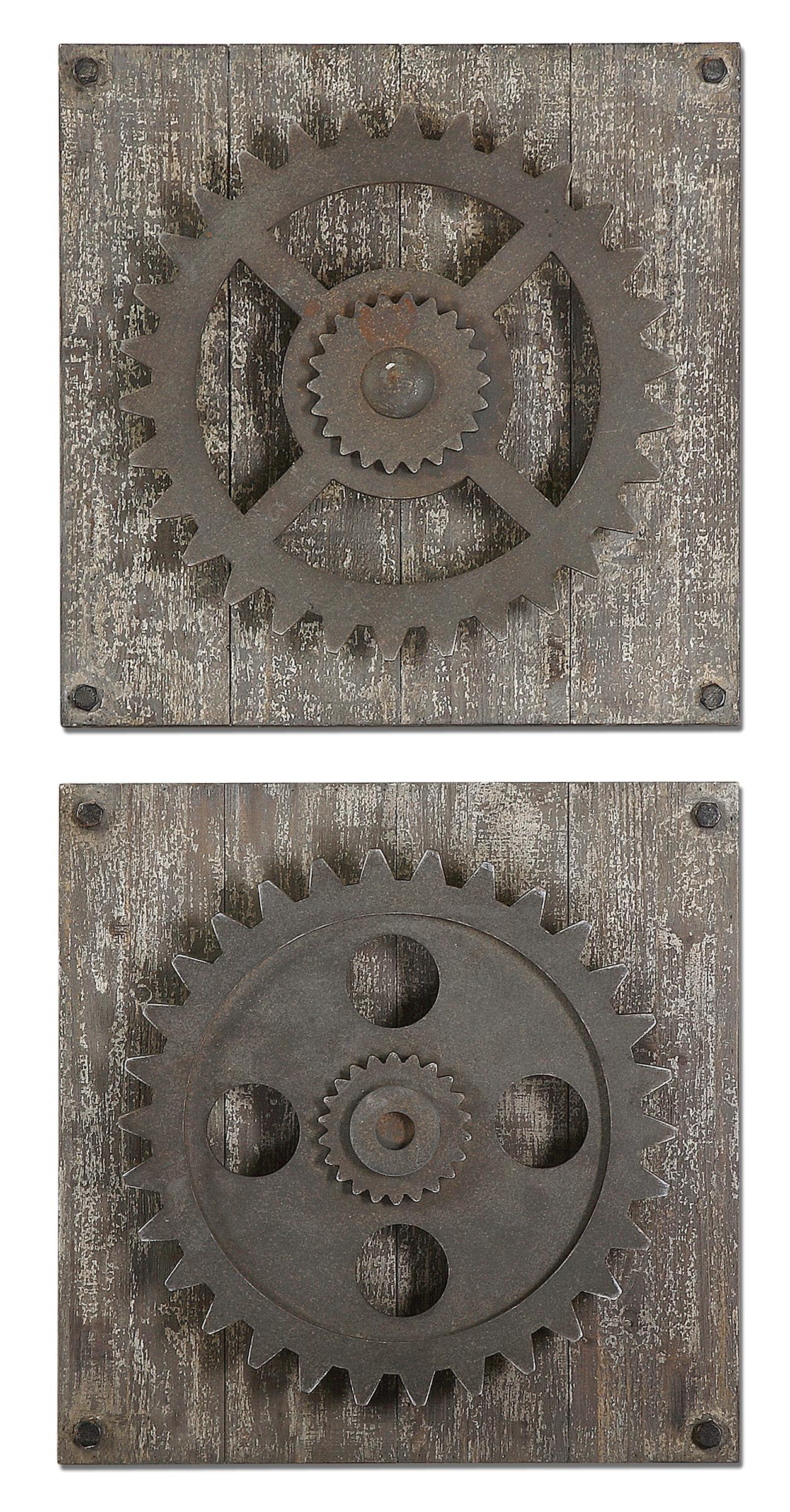 Uttermost Alternative Wall Decor Rustic Gears - Item Number: 13828