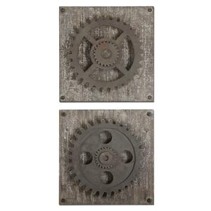 Uttermost Alternative Wall Decor Rustic Gears