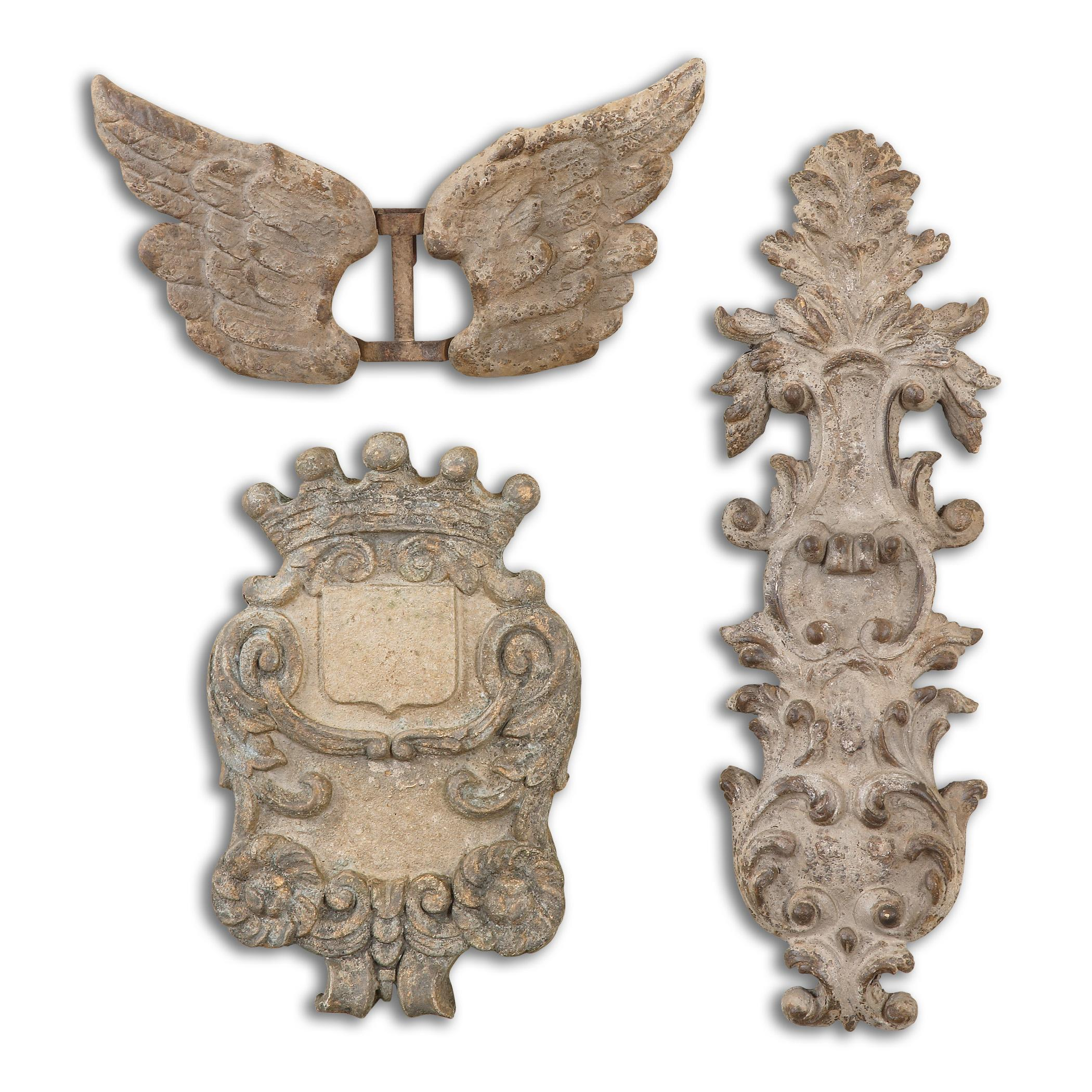 Uttermost Alternative Wall Decor Rustic Artifacts, Set of 3 - Item Number: 13883