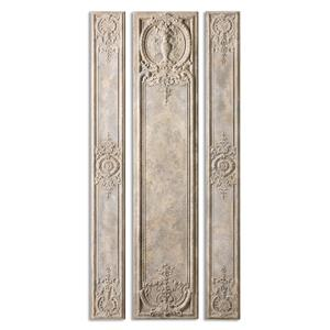Uttermost Alternative Wall Decor Argentario Aged Ivory Panels, S/3