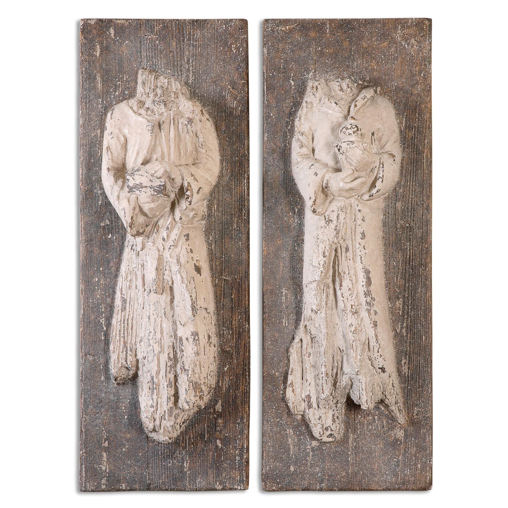 Uttermost Alternative Wall Decor Saint Statues, S/2 - Item Number: 13907