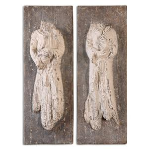 Uttermost Alternative Wall Decor Saint Statues, S/2