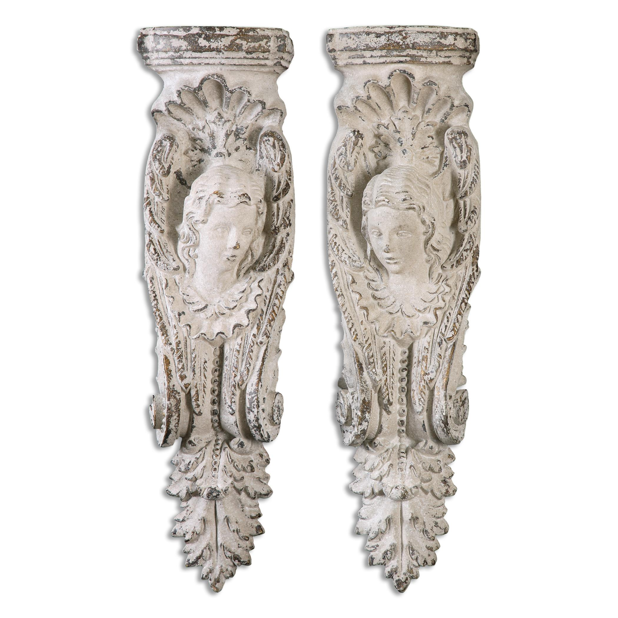 Uttermost Alternative Wall Decor Angelic Stone Ivory Shelves, S/2 - Item Number: 13909