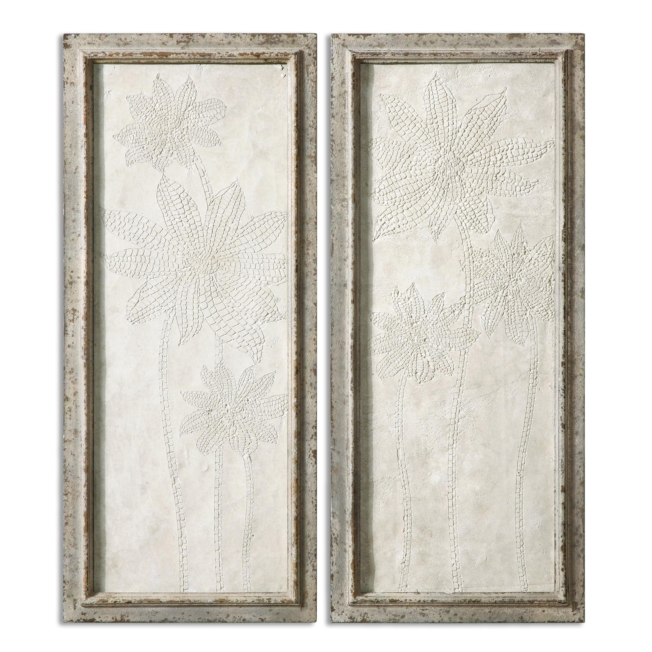 Uttermost Alternative Wall Decor Fiore Panels Wall Art S/2 - Item Number: 13911