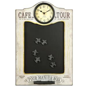 Uttermost Alternative Wall Decor Cafe de la Tour Chalkboard and Clock
