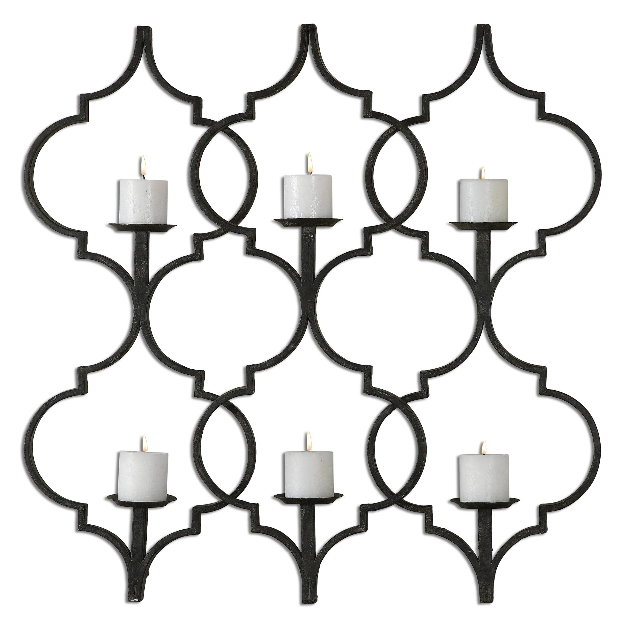Uttermost Alternative Wall Decor Zakaria Metal Candle Wall Sconce - Item Number: 13998