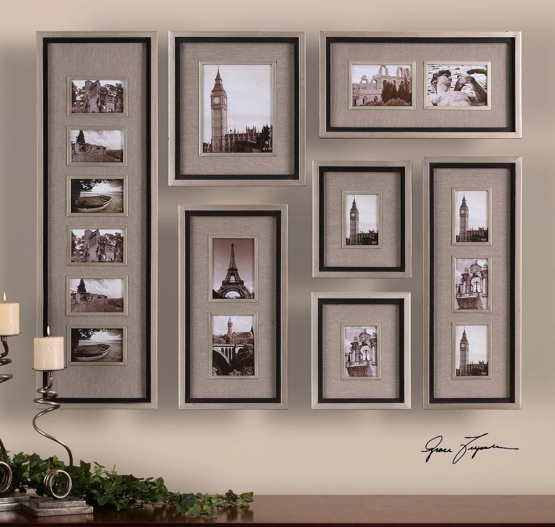 Оригинальное оформление стены фотографиями обнаружил