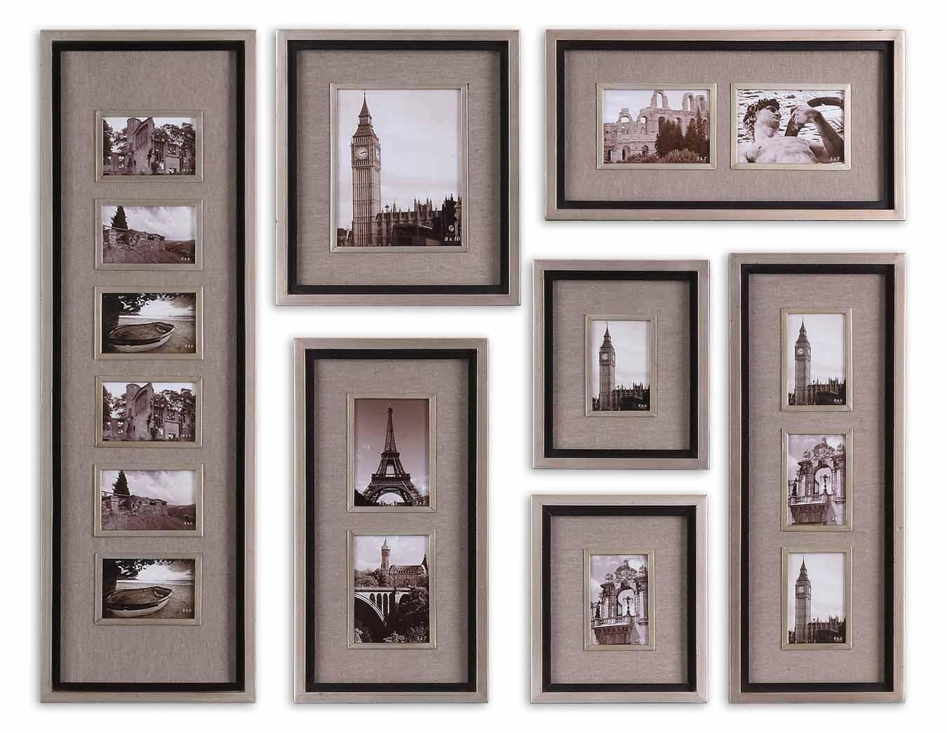 Uttermost Alternative Wall Decor Massena Photo Collage Set of 7 - Item Number: 14458