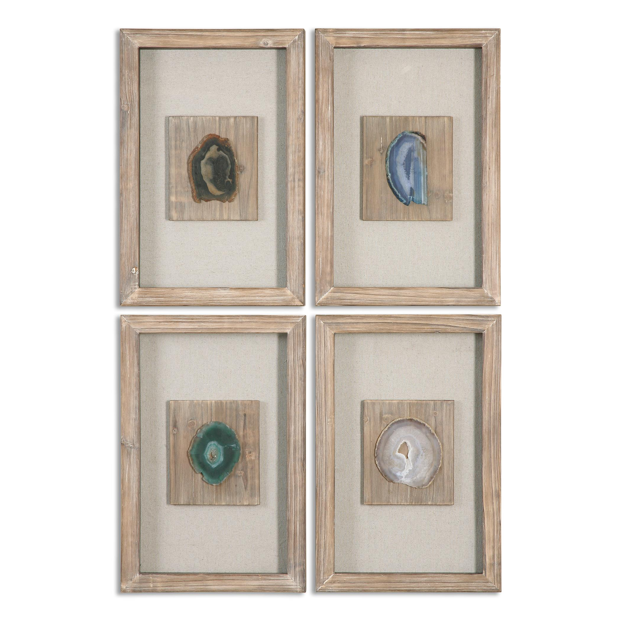 Uttermost Alternative Wall Decor Agate Stone, S/4 - Item Number: 14499