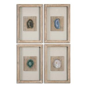 Uttermost Alternative Wall Decor Agate Stone, S/4
