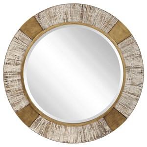 Reuben Gold Round Mirror