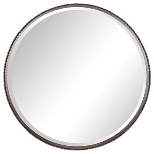 Ada Round Steel Mirror