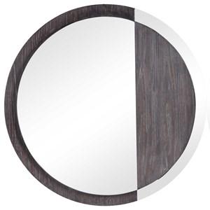 Tajitu Modern Round Mirror