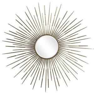 Golden Rays Starburst Mirror