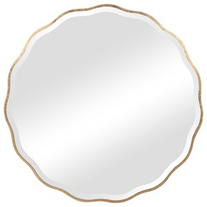 Aneta Gold Round Mirror