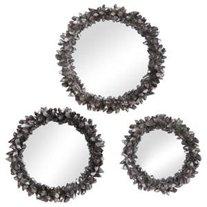 Galena Round Mirrors, S/3