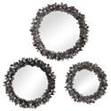 Uttermost Mirrors - Round Galena Round Mirrors, S/3 - Item Number: 09636