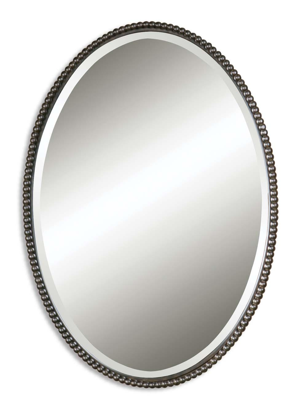 Uttermost Mirrors Sherise Bronze Oval Mirror - Item Number: 01101 B