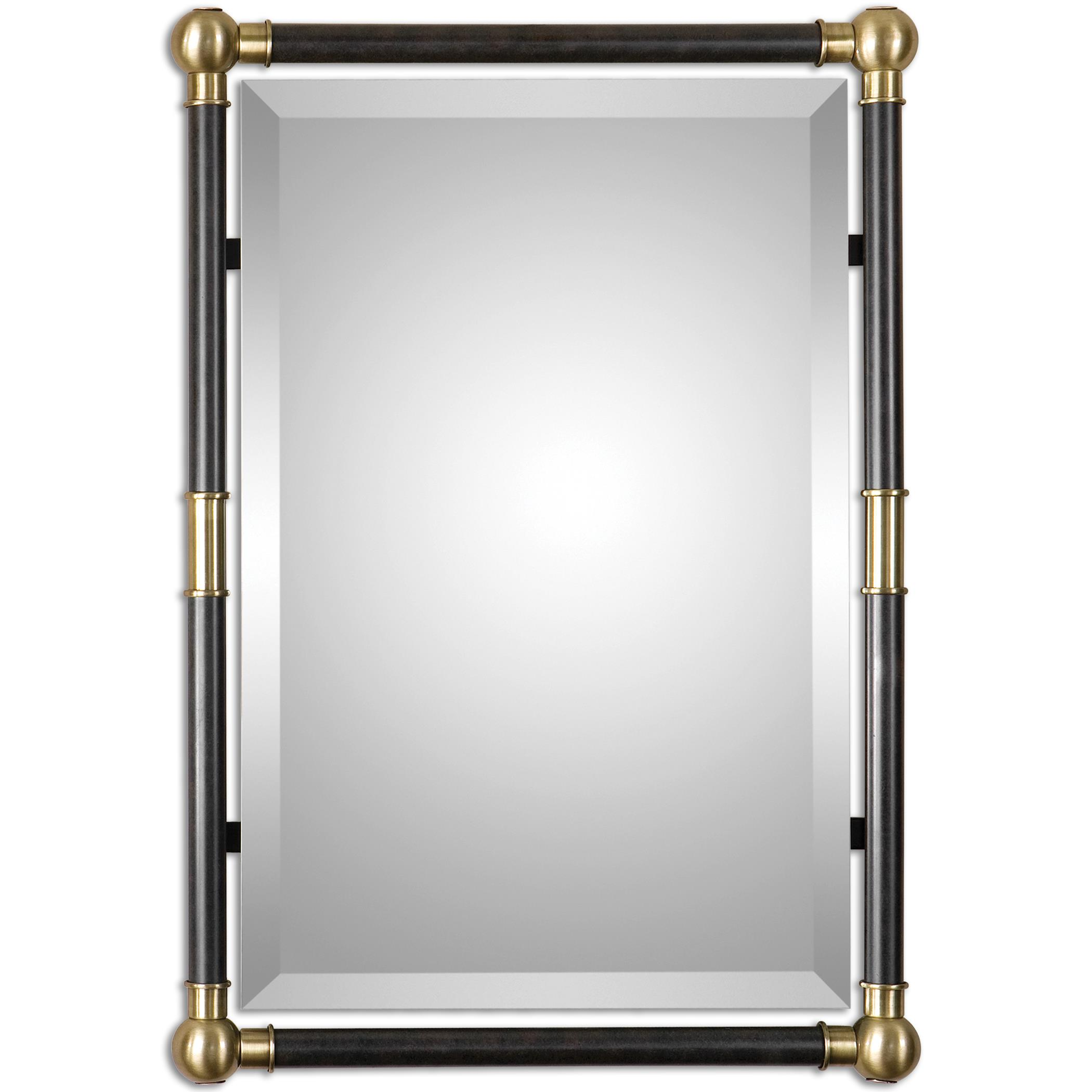 Uttermost Mirrors Rondure Bronze Metal Wall Mirror - Item Number: 01131