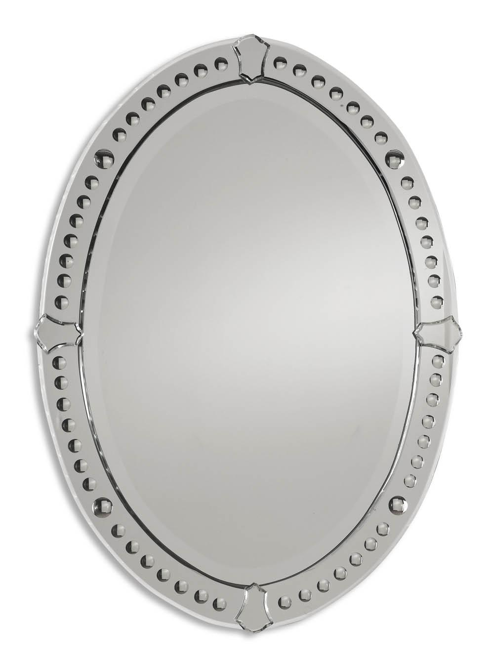 Uttermost Mirrors Graziano Oval Mirror - Item Number: 05003 B