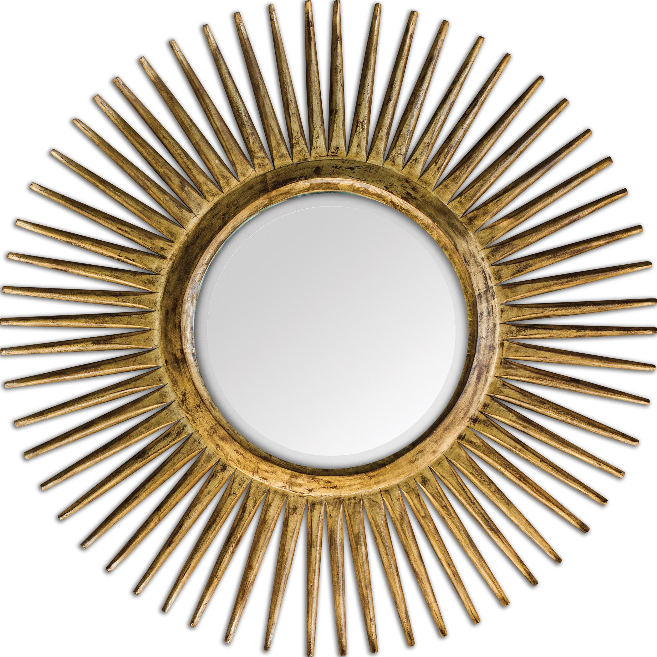 Uttermost Mirrors Destello Gold Starburst Mirror - Item Number: 05032