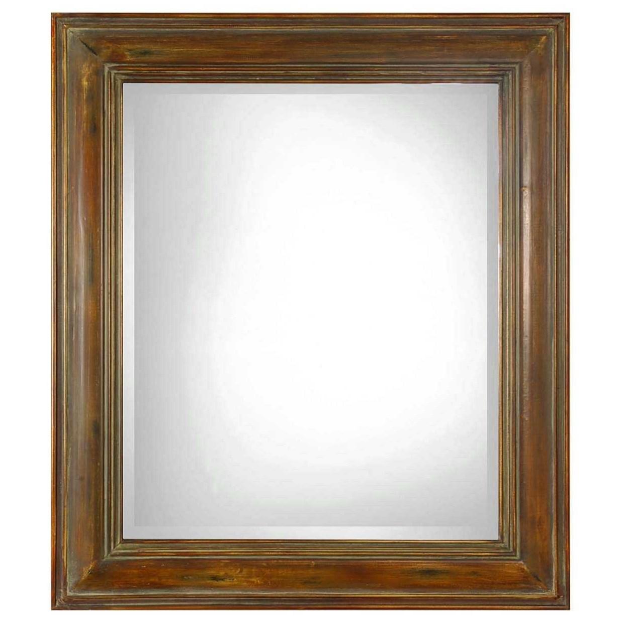 Uttermost Mirrors Darian Dark Brown Mirror - Item Number: 07016