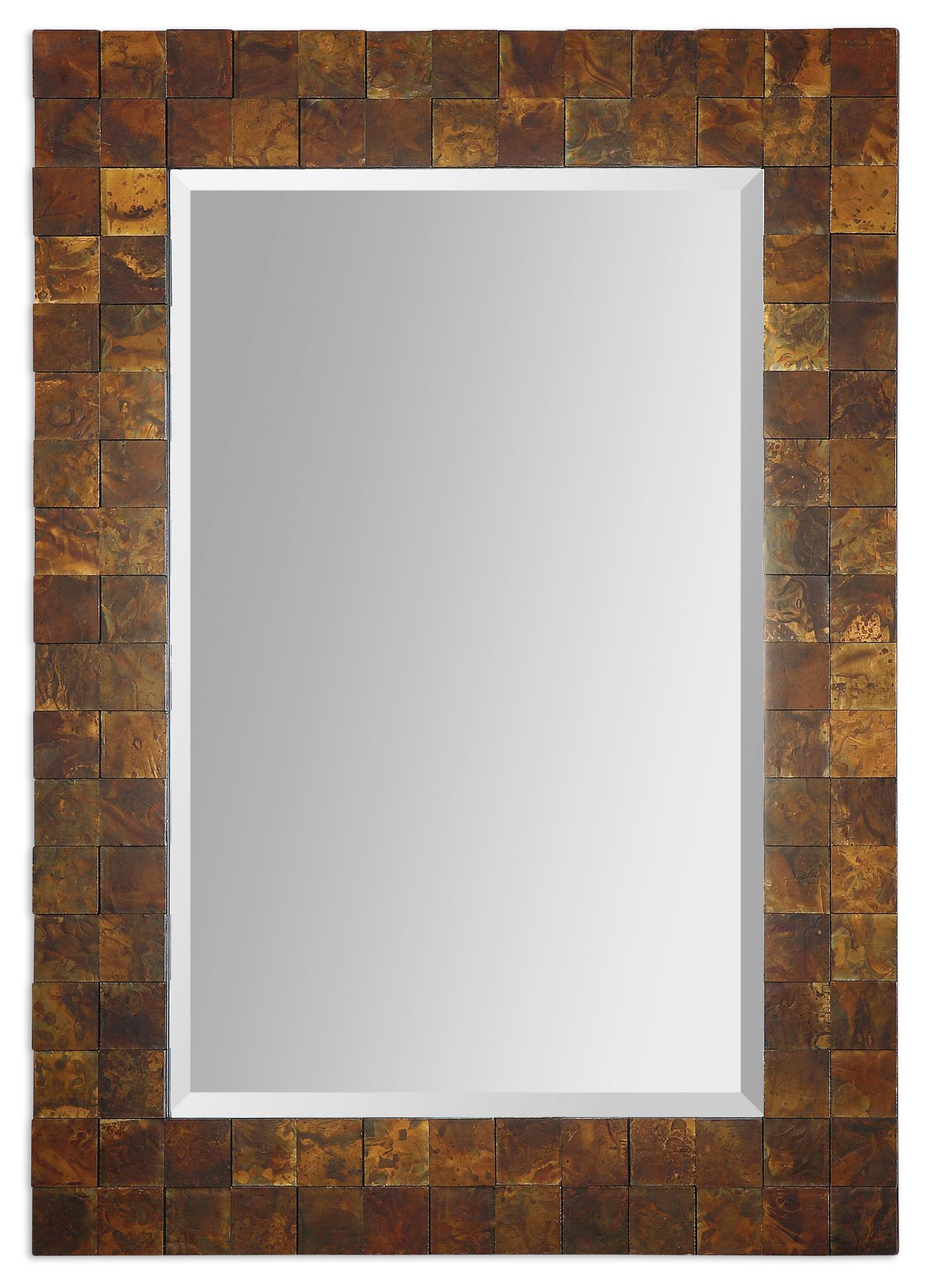 Uttermost Mirrors Ambrosia Copper Mosaic Mirror - Item Number: 07057