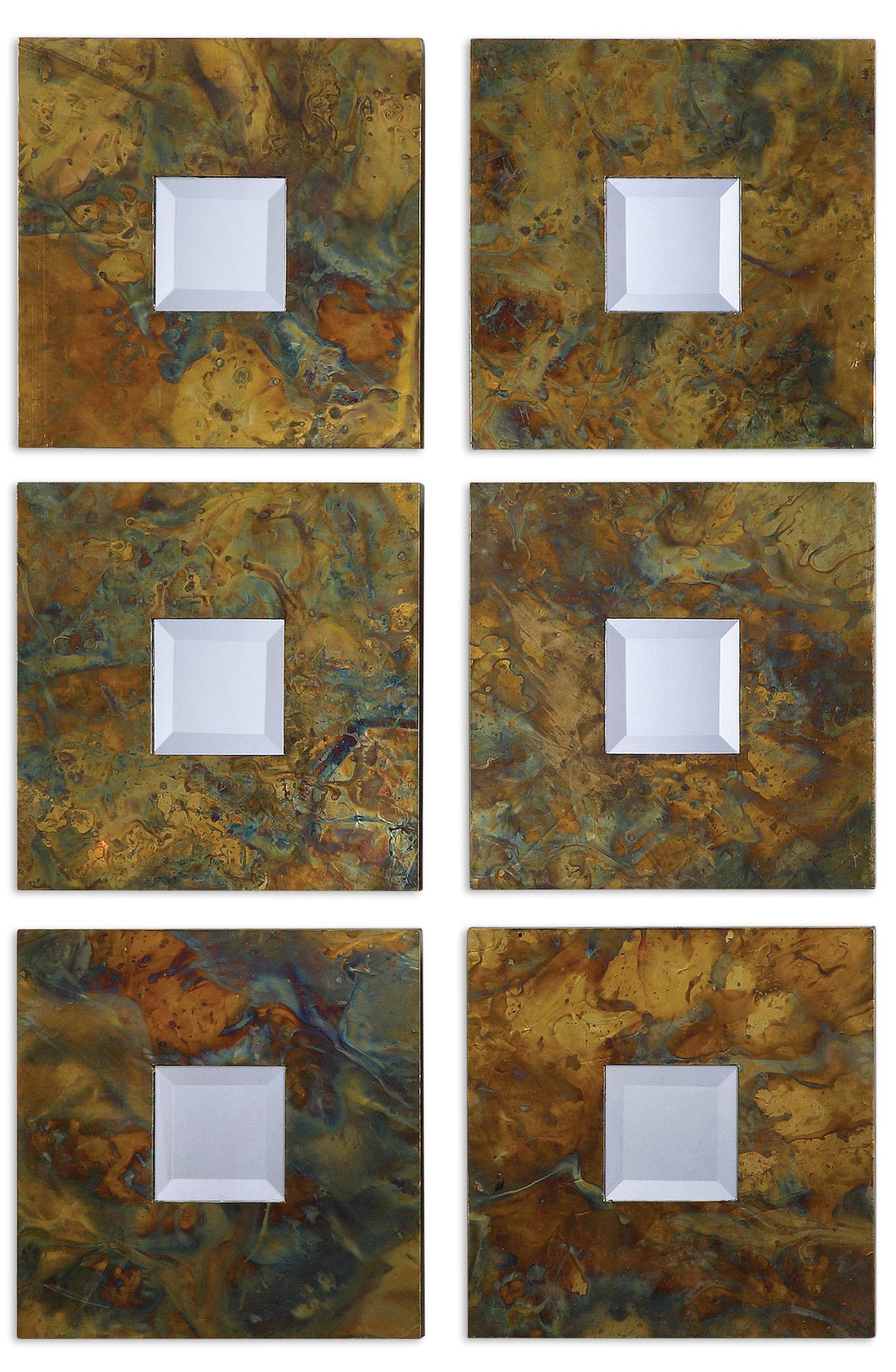 Uttermost Mirrors Ambrosia Squares Mirror Set 2 - Item Number: 07058