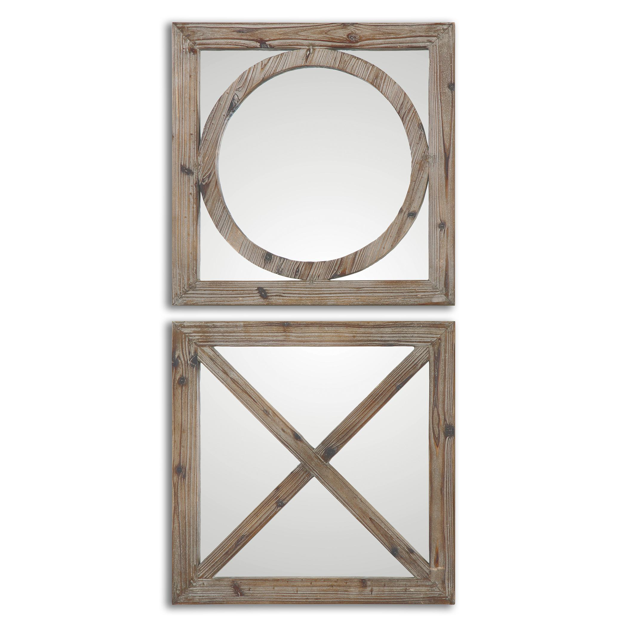 Uttermost Mirrors Baci E abbracci, Wooden Mirrors Set of 2 - Item Number: 07067