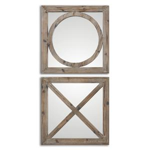 Uttermost Mirrors Baci E abbracci, Wooden Mirrors Set of 2