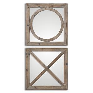 Uttermost Mirrors Baci E abbracci, Wooden Mirrors Set of 2